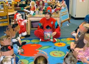 ROCK STAR SANTA school visit