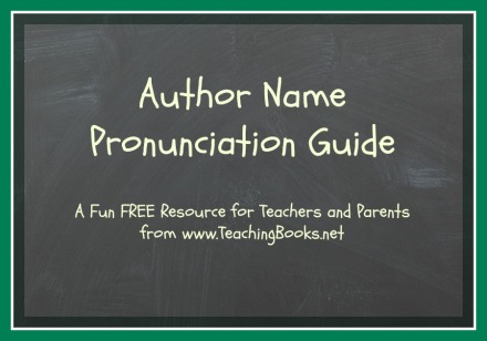 Author Pronunciation Guide pic