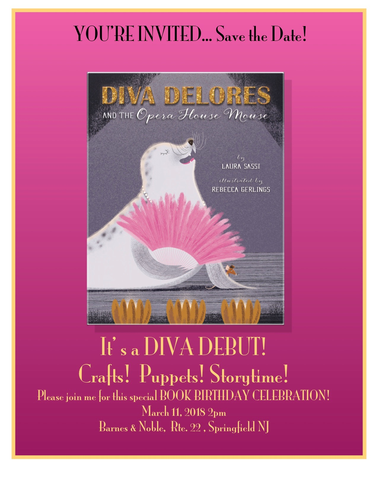 SAVE THE DATE:  It's a DIVA PARTY!