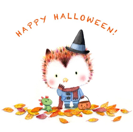 Little Owl Halloween with text